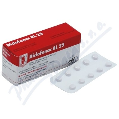 DICLOFENAC AL 25 25MG enterosolventní tableta 50