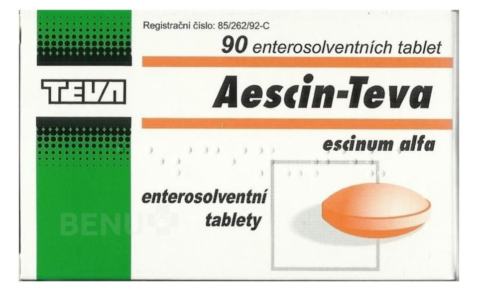 AESCIN-TEVA 20MG enterosolventní tableta 90
