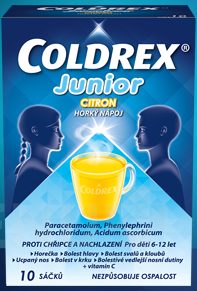 COLDREX JUNIOR CITRON 300MG/5MG/20MG perorální PLV SOL SCC 10