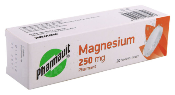 MAGNESIUM 250 MG PHARMAVIT 250MG šumivá tableta 20