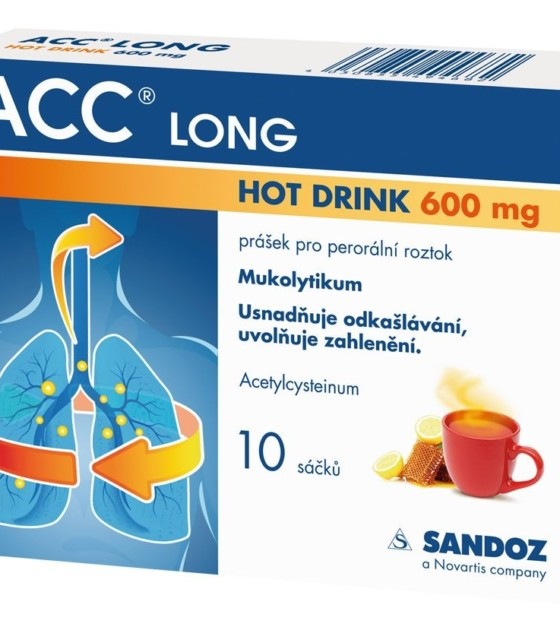 ACC Long Hot Drink 600 mg 10 sáčků