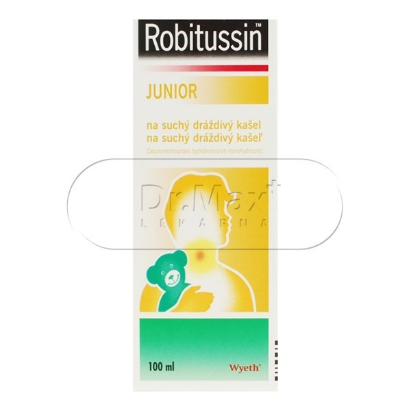 Robitussin Junior na suchý dráždivý kašel por.sir.100ml/75mg
