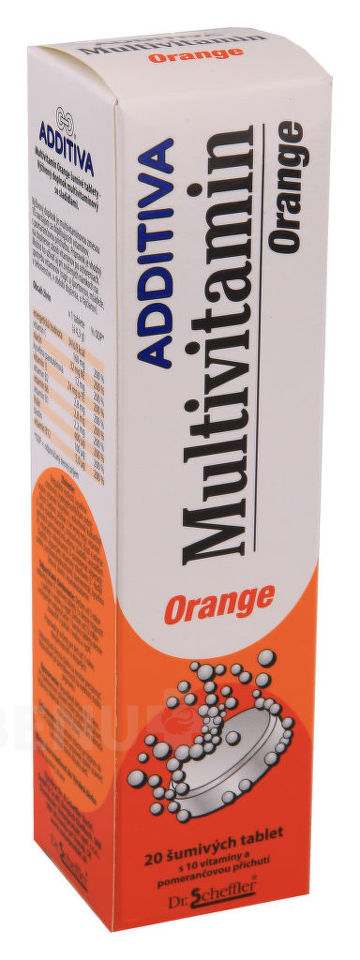 Additiva Multivitamin tbl.eff.20 pomeranč