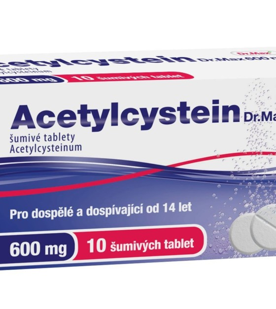 Dr.Max ACETYLCYSTEIN 600mg tbl.eff.10