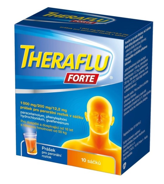 Theraflu Forte 1 000 mg/200 mg/12