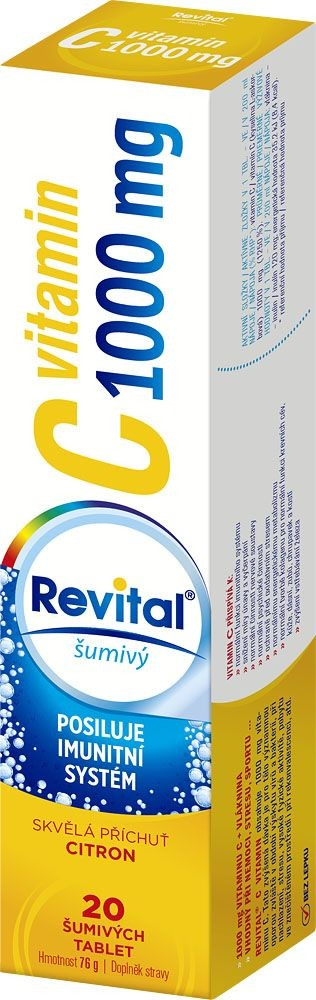 REVITAL Vitamin C 1000mg Citron 20 šumivých tablet
