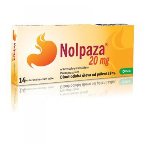 Nolpaza 20 mg enterosolventní tablety 14 x 20 mg