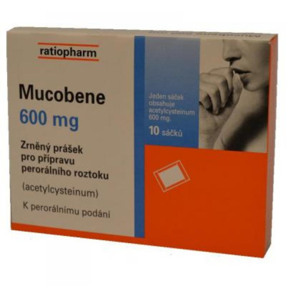 MUCOBENE 600 MG GRA 10X3GM/600MG-SA