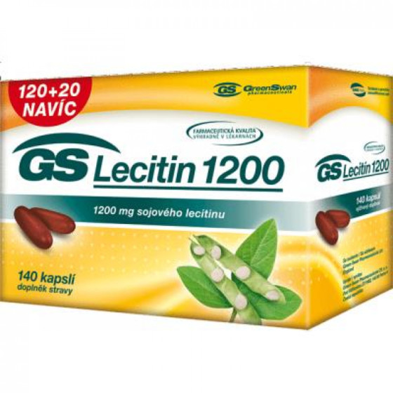 GS Lecitin 1200 - 120 + 20 kapslí