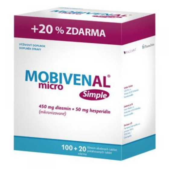 MOBIVENAL micro Simple 100+20 tablet ZDARMA