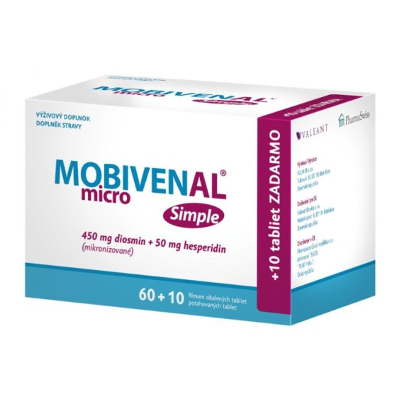 MOBIVENAL micro Simple 60+10 tablet ZDARMA