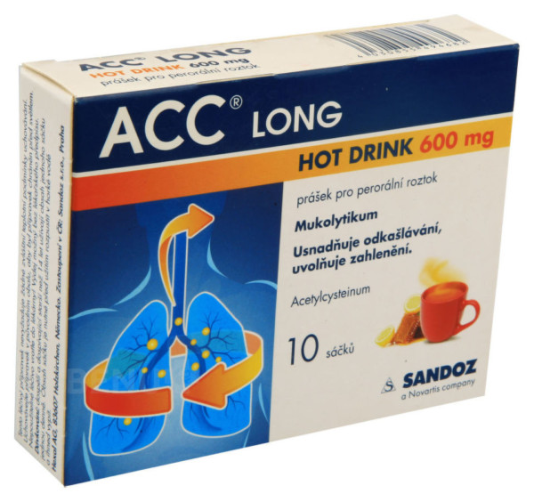 ACC LONG HOT DRINK 600MG perorální PLV SOL 10