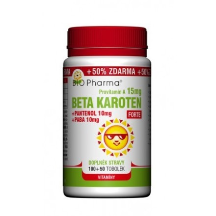 Beta Karot.15mg+Panten.10mg+PABA10mg tob.100+50