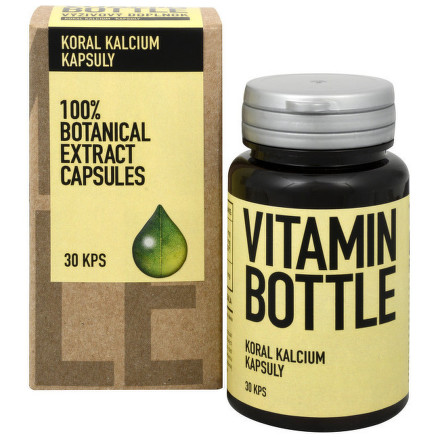 Vitamin-Bottle Koral kalcium 30 kapslí