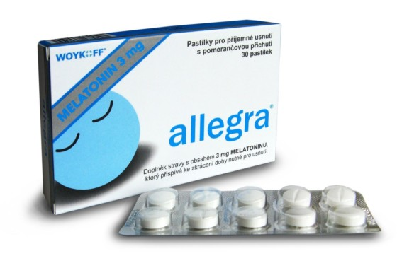 WOYKOFF Melatonin allegra 3 mg 30 pastilek