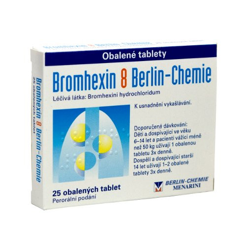 Bromhexin 8 Berlin-Chemie 25 tablet