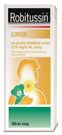 Robitussin Junior suchý drážd.k.por.sir.100ml/75ml