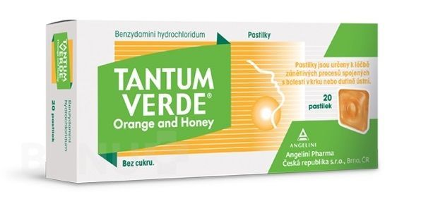 TANTUM VERDE ORANGE AND HONEY 3MG pastilka 40
