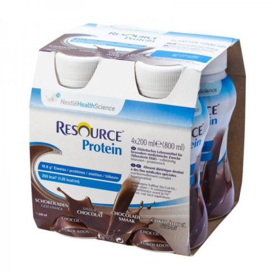 RESOURCE® Protein čokoláda 4x200 ml