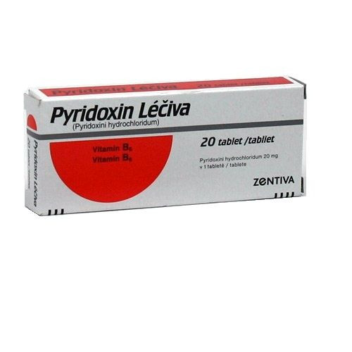 Pyridoxin Léčiva 20 mg 20 tablet