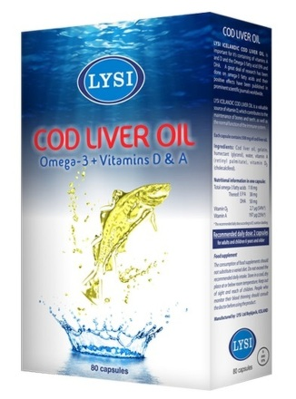 LYSI Cod liver oil 80cps
