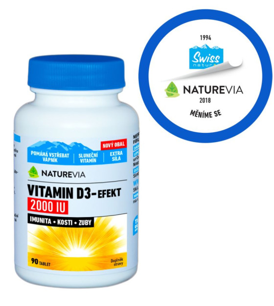 Swiss NatureVia Vitamin D3-Efekt 2000IU 90 tablet