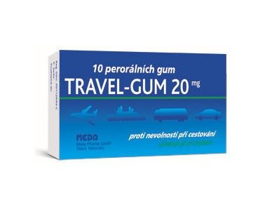 Travel-Gum 20 mg 10 žvýkaček