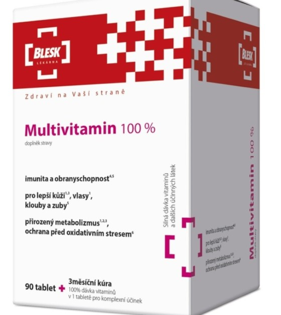 BLESK Multivitamin 100 % tbl.90