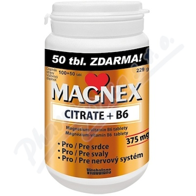 Magnex citrate 375 mg+B6 tbl.100+50