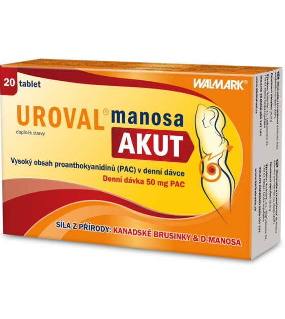 Uroval Manosa AKUT 20 tablet