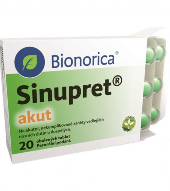 SINUPRET AKUT 160 mg 20 tablet