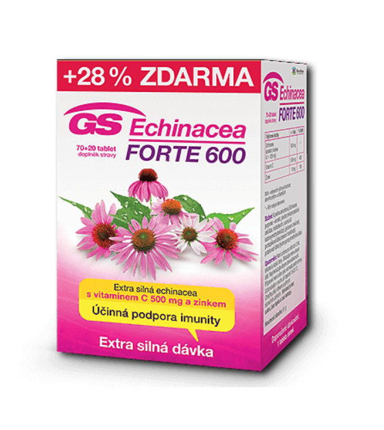 GS Echinacea forte 600 70 + 20 tablet