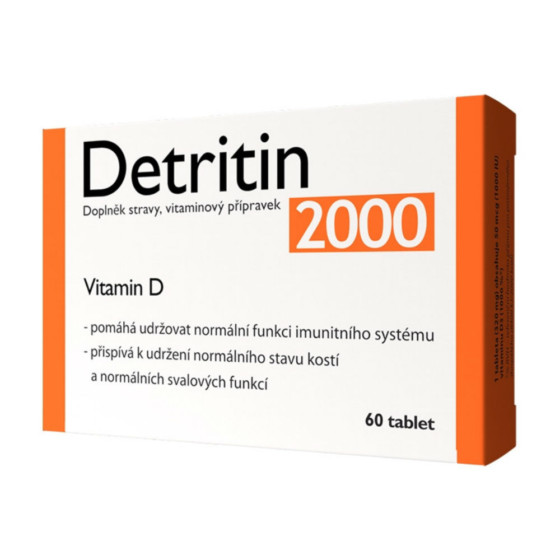 DETRITIN - 2000 IU vitaminu D 60 tablet