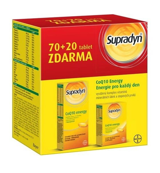 Supradyn CO Q10 Energy tbl.70+20