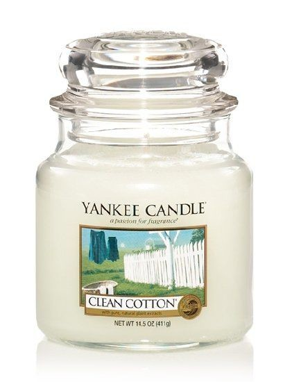 YANKEE CANDLE vonná svíce Clean cotton 411g