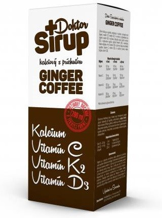 Doktor Sirup kalciový Ginger Coffee 200ml