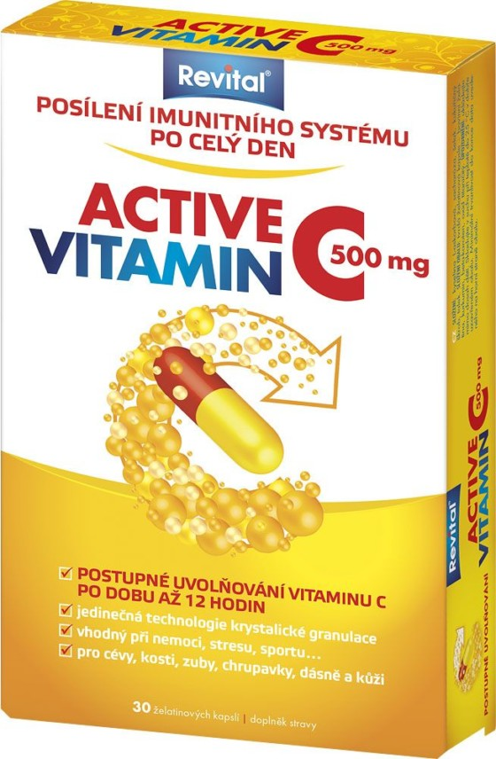 Revital Active vitamin C 500 mg 30 kapslí