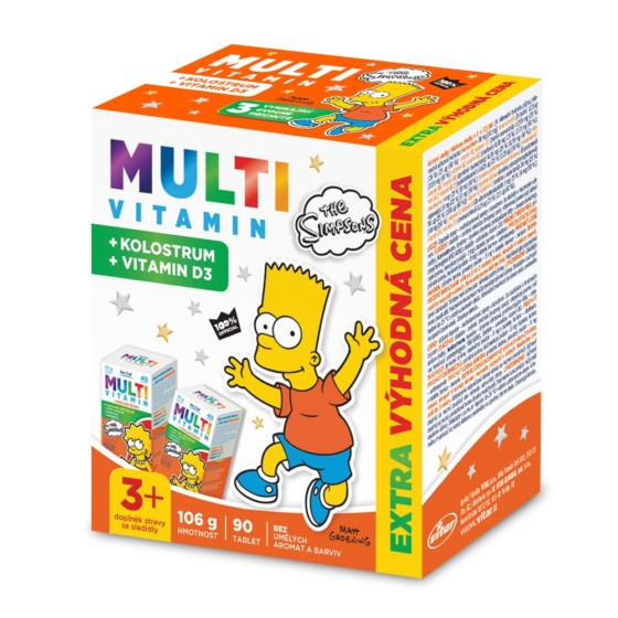 The Simpsons Multivitamin + kolostrum 90 tablet