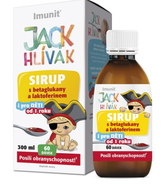Simply You Hlíva Jack Hlívák glukany a laktoferin sirup 300 ml