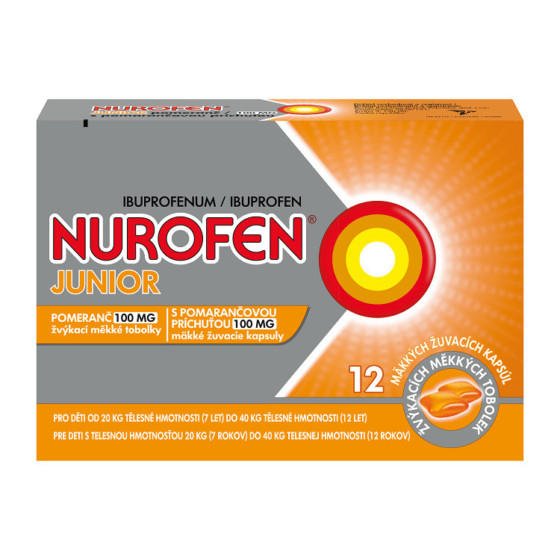 NUROFEN JUNIOR POMERANČ 100MG CPS MDM 12