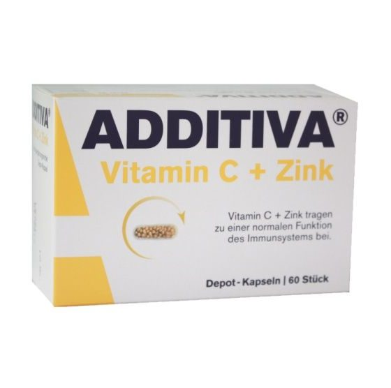 Additiva Vitamin C + zinek 60 kapslí