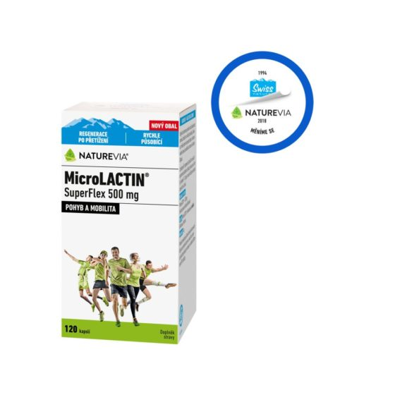 Swiss NatureVia MicroLACTIN SuperFlex 500 mg 120 kapslí