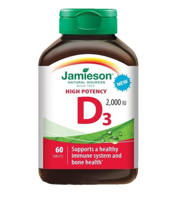 Jamieson Vitamin D3 2000 IU 60 tablet