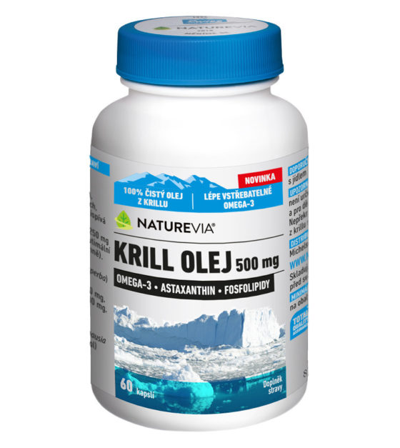 Swiss NatureVia Krill olej 500mg cps.60