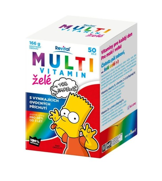 The Simpsons Multivitamin želé 50 ks