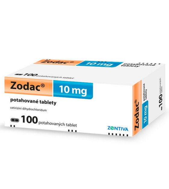 ZODAC 10mg 100 tablet