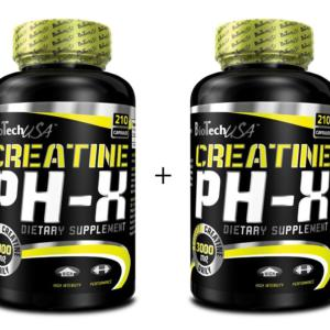 1 + 1 Zdarma: Creatine pH-X - Biotech USA 90 kaps. + 90 kaps.