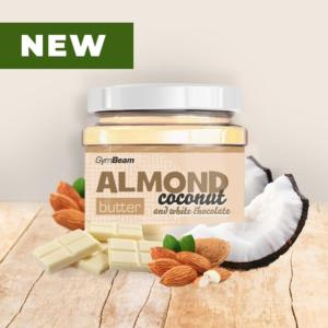 Almond Butter ochucené - GymBeam 340 g Coconut+White Chocolate