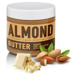 Almond Butter ochucené - Sizeandsymmetry 500 g Coconut & White Chocolate & Honey