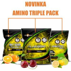 Amino Triple Pack - Still Mass 400 g + 500 g + 500 g Orange + Cherry + Lime+Lemon